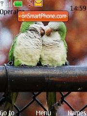 Скриншот темы Birds Love