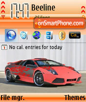 Lamborghini Murcielago theme screenshot