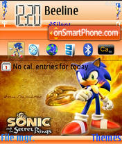 Sonic Theme theme screenshot