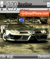 Mercedes Need for Speed Car theme screenshot