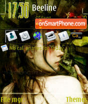 Violated Flora S60v3 theme screenshot