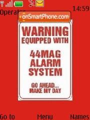 Alarm es el tema de pantalla