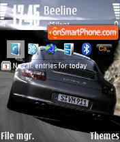 Porsche theme screenshot
