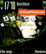 Flowers From The Dark S60v3 theme screenshot