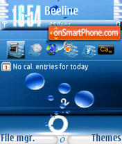 O2 s60v3 theme screenshot