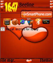 Valentine Heart S60v3 theme screenshot