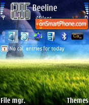 Omid Space theme screenshot
