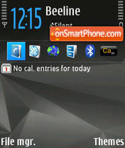 Nokia Nseries tema screenshot