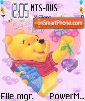 Pooh Valentine es el tema de pantalla