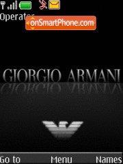Giorgio Armani theme screenshot