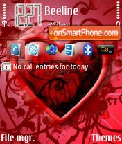 Скриншот темы Red 3d Heart