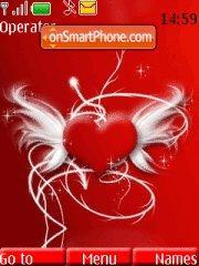 Red Valentine Heart tema screenshot