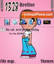 Pinky Girl theme screenshot