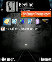 Dark Tunnel theme screenshot