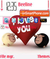 Sheeps Love theme screenshot