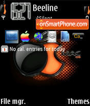 Orange Mac tema screenshot
