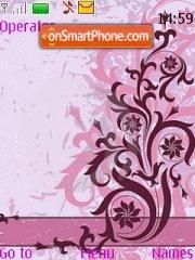 Capture d'écran Floral Vector thème