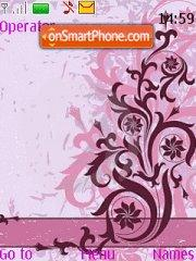 Floral Vector theme screenshot