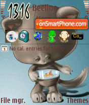 Hungry Cat theme screenshot
