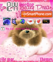 Valentine Bear 01 theme screenshot