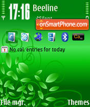 Green Lamour theme screenshot