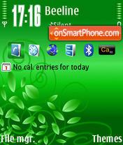 Скриншот темы Green Lamour