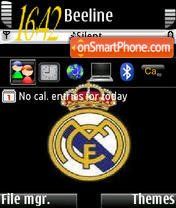 Real Madrid 2010 theme screenshot