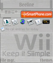Nintendo Wii S60v3 theme screenshot
