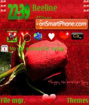Valentine Rose s60v3 es el tema de pantalla
