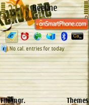 Paper tema screenshot