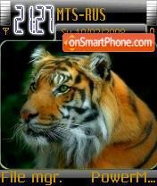 Tiger 08 es el tema de pantalla