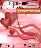 Lovely Heart es el tema de pantalla