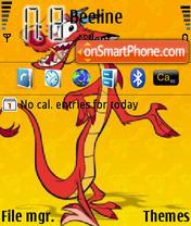 Скриншот темы Dragon Cartoon