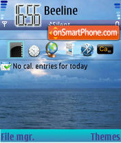 Blue Sea 02 tema screenshot