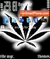 Marijuana Leaves theme screenshot