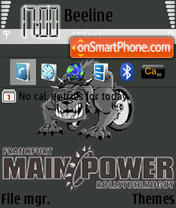Frankfurt Mainpower theme screenshot