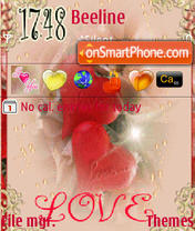 Скриншот темы Red Love