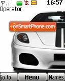 White Ferrari theme screenshot