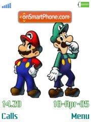 Mario N Luigi es el tema de pantalla