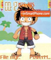 Monkey D Luffy theme screenshot