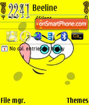 Sponge Bob N95 theme screenshot