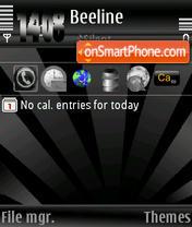 Скриншот темы Black&Black s60v3