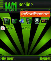 Black&Green s60v3 tema screenshot