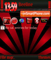 Black&Red s60v3 theme screenshot