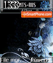 Black L'Amour S60v2 theme screenshot