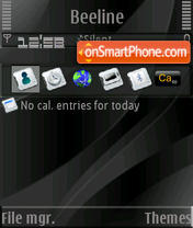 Pure Black S60v3 theme screenshot