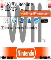 Скриншот темы Wii