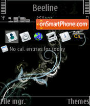Electric L'Amour S60v3 theme screenshot