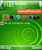 Windows Mobile 3rd theme screenshot
