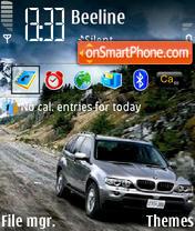 BMW X5 05 theme screenshot